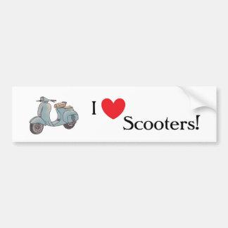 J'aime des scooters ! Adhésif pour pare-chocs Autocollant De Voiture