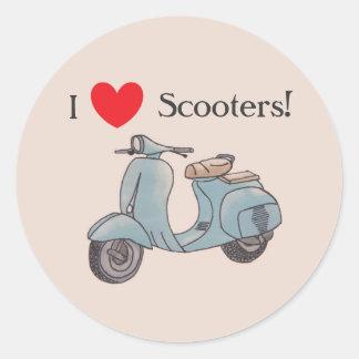 J'aime des scooters ! Autocollants