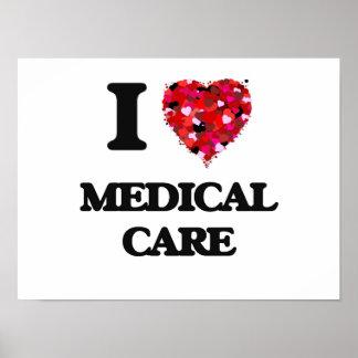 J'aime des soins médicaux poster