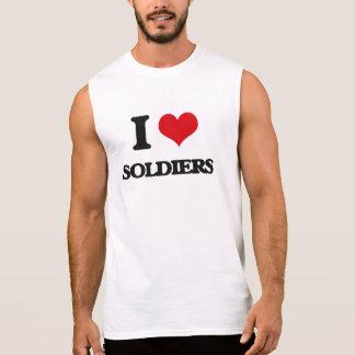 J'aime des soldats t-shirt sans manches