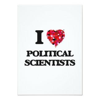 J'aime des spécialistes des Sciences Politiques Carton D'invitation 12,7 Cm X 17,78 Cm