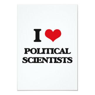 J'aime des spécialistes des Sciences Politiques Carton D'invitation 8,89 Cm X 12,70 Cm