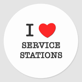 J'aime des stations service adhésifs ronds