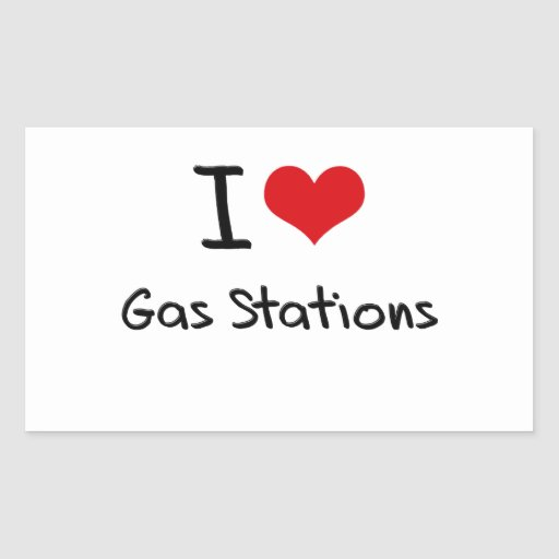 J'aime des stations service sticker en rectangle