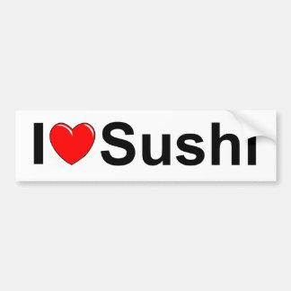 J'aime des sushi (de coeur) autocollant de voiture