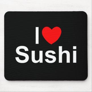 J'aime des sushi (de coeur) tapis de souris