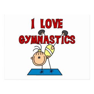 J'aime des T-shirts et des cadeaux de gymnastique Carte Postale