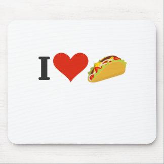 J'aime des tacos pour des amants de taco tapis de souris