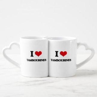 J'aime des tambours de basque mug amoureux