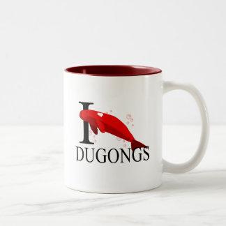 J'aime des tasses de Dugongs