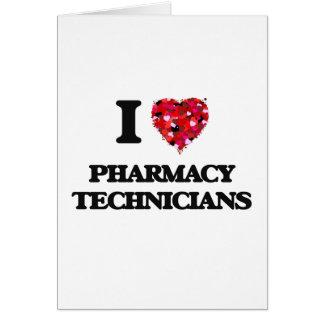 J'aime des techniciens de pharmacie cartes