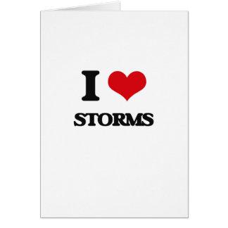J'aime des tempêtes carte de vœux