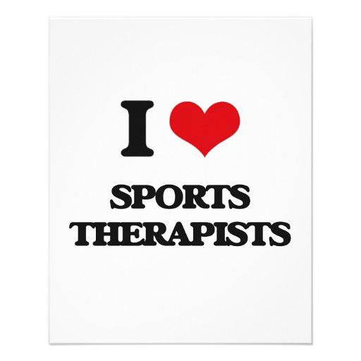 J'aime des thérapeutes de sports prospectus avec motif