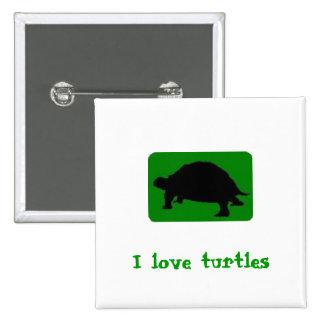 J'aime des tortues badges