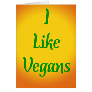 J'aime des végétaliens… carte de vœux