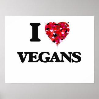 J'aime des végétaliens poster