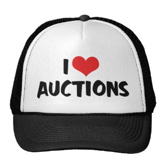 J'aime des ventes aux enchères de coeur casquette