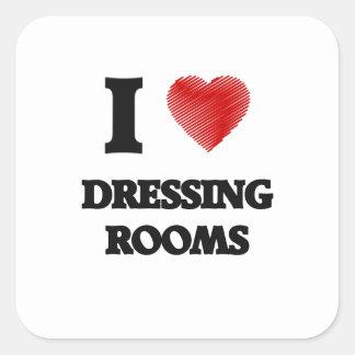J'aime des vestiaires sticker carré