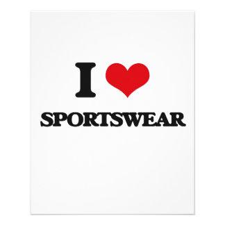 J'aime des vêtements de sport prospectus personnalisés