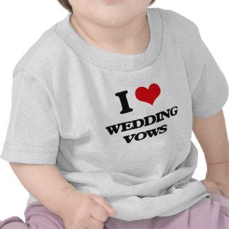 J'aime des voeux de mariage t-shirts