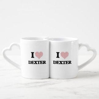 J'aime Dexter (le coeur fait à partir des mots Tasses Duo