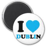 J'aime Dublin Magnets Pour Réfrigérateur