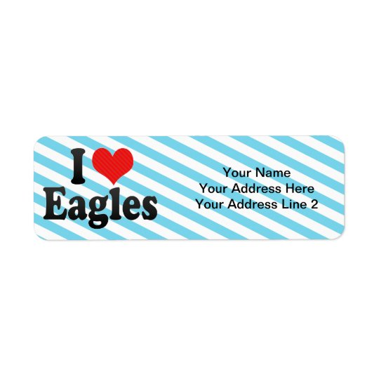 J'aime Eagles Étiquette D'adresse Retour