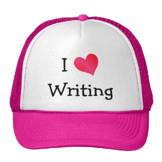 J'aime écrire casquettes de camionneur
