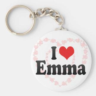 J'aime Emma Porte-clé Rond