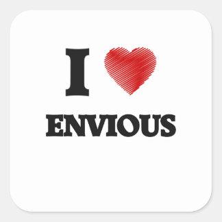 J'aime ENVIEUX Sticker Carré