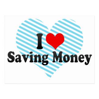 J'aime épargner l'argent carte postale