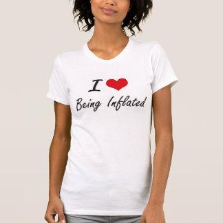 J'aime être conception artistique gonflée t-shirt