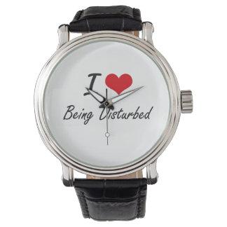 J'aime être conception artistique perturbée montres bracelet
