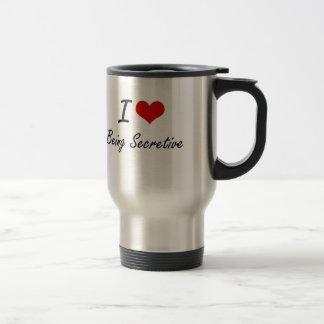 J'aime être conception artistique réservée mug de voyage en acier inoxydable
