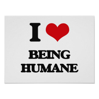 J'aime être humanitaire affiche
