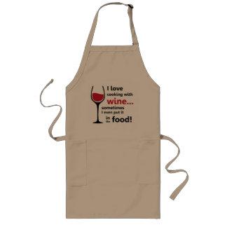 J'aime faire cuire avec le tablier de vin