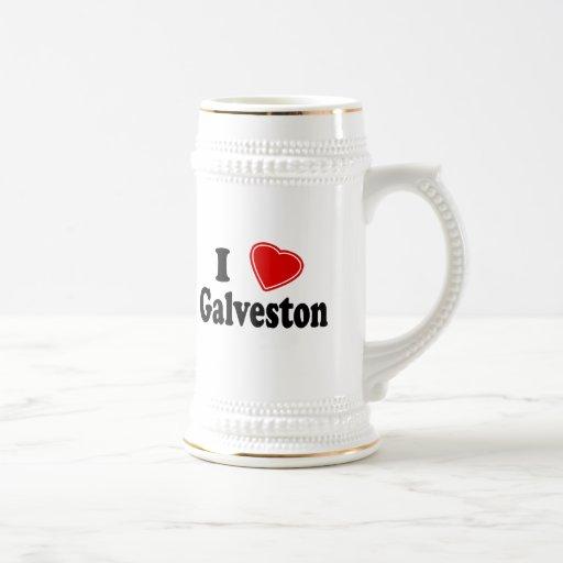 J'aime Galveston Chope À Bière