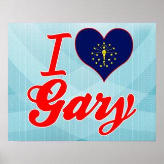J'aime Gary, Indiana Posters