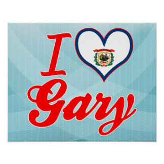 J'aime Gary, la Virginie Occidentale Affiches
