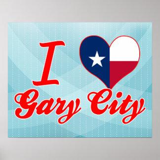J'aime Gary+Ville, le Texas Posters