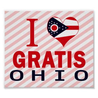 J'aime gratuitement, l'Ohio Posters