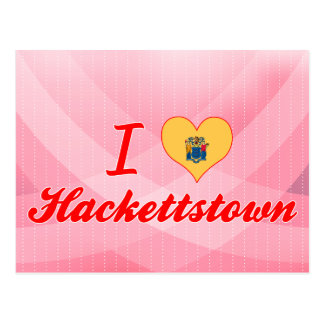 J'aime Hackettstown, New Jersey Carte Postale