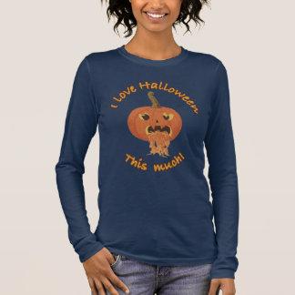 J'aime Halloween ce beaucoup ! T-shirt À Manches Longues