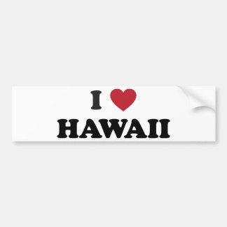 J'aime Hawaï Autocollant Pour Voiture