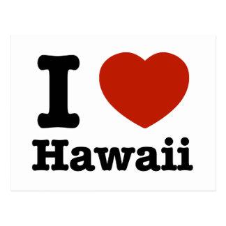 J'aime Hawai Carte Postale
