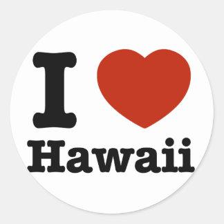 J'aime Hawai Sticker Rond