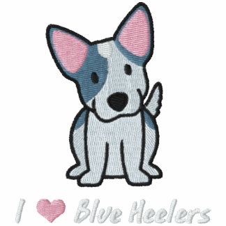 J'aime Heelers bleu