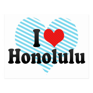 J'aime Honolulu Cartes Postales