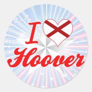 J'aime Hoover, Alabama Adhésif Rond