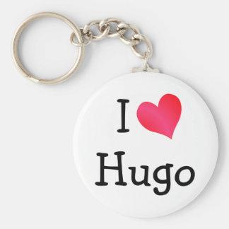 J'aime Hugo Porte-clé Rond